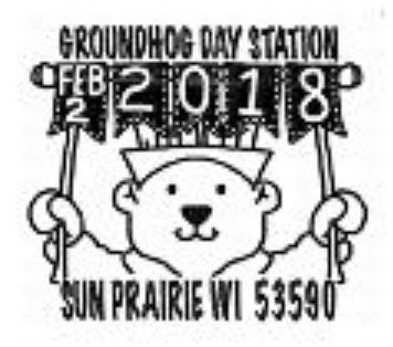 Groundhog Day 2018 Pictorial Postmark