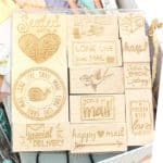 Read more about the article Happy Mail Engraved Wood Rubber Stamp Set