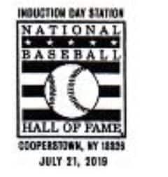 2019 pictorial postmark inauguration day national baseball hall of fame