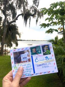 Genuine Souvenir postcard AnchoredScraps #2000 Daily Blog Post Milestone