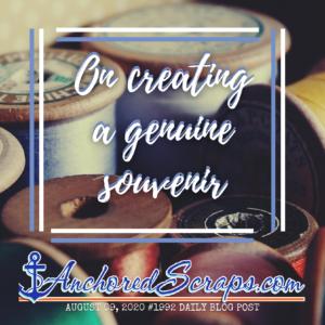 On creating a genuine souvenir #1992