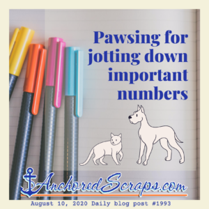 Pawsing for jotting down important numbers