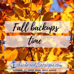 fall time backups