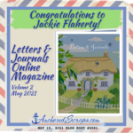 Read more about the article Congratulations to Jackie Flaherty! Letters & Journals Online Magazine Volume 2