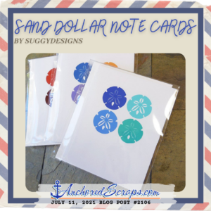 Sand Dollar Note Cards by Suggy Designs