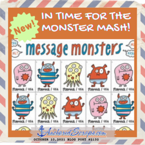 Monster Mash Message Monsters Stamps