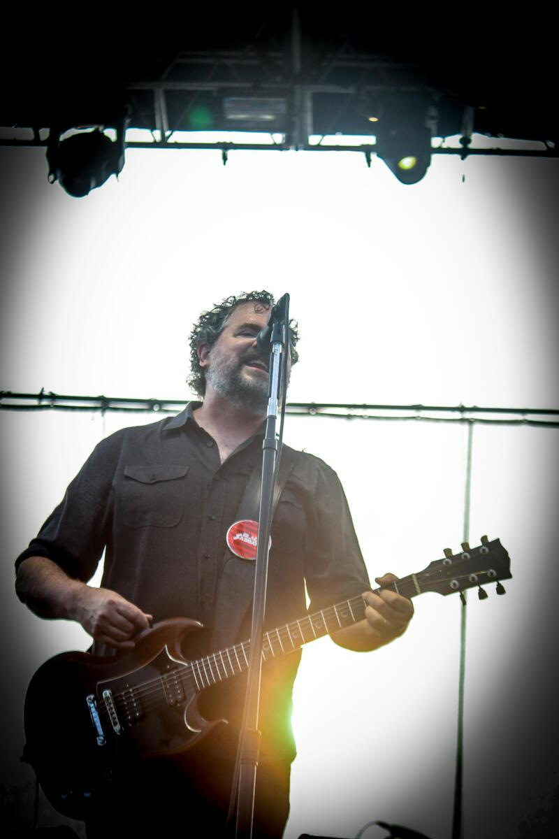 Patterson Hood of Drive-By Truckers performs at Maha Festival at Stinson Park in Omaha, Neb.