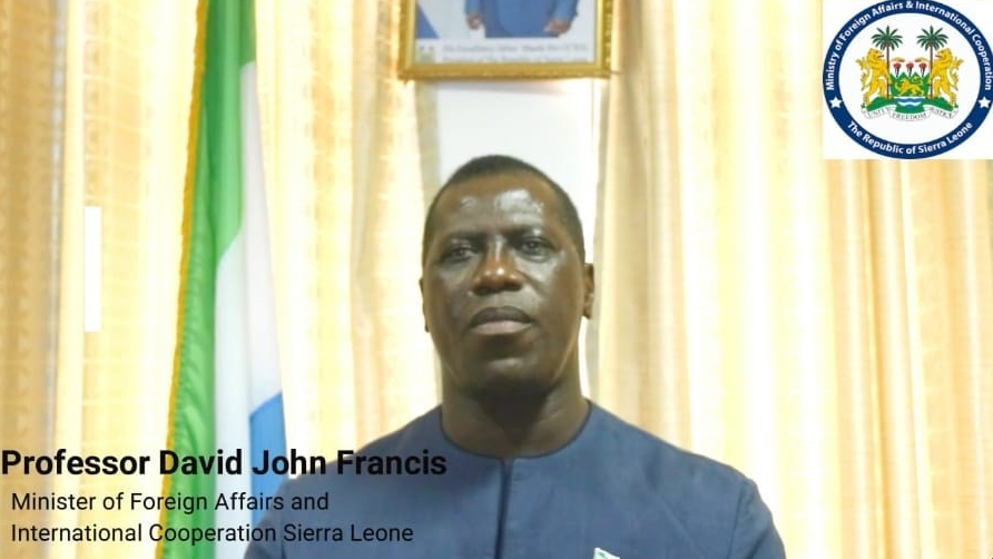 Minister of Foreign Affairs and International Cooperation, Professor David J. Francis speaks on the benefits of Sierra Leone's participation at the Global Education Summit in London.