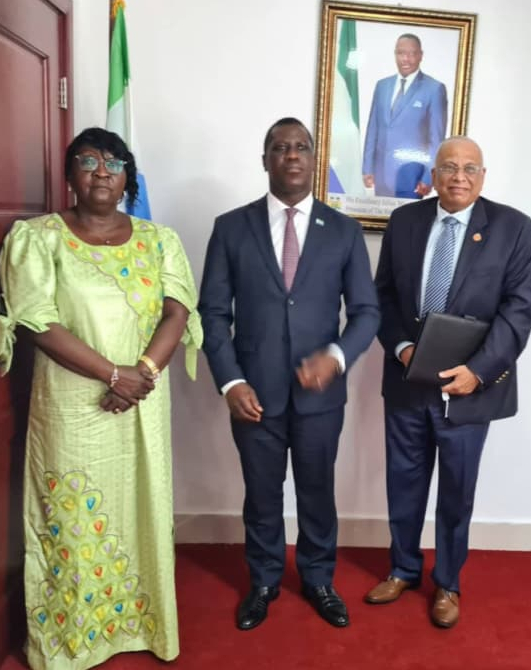 Sierra Leone's Foreign Minister Assures Chancellor of America International University of Government's Support, As He Express Interest To Start Operations In Sierra Leone