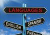 Languages Signpost Meaning English Chinese Spanish And French, how to learn a new language fast