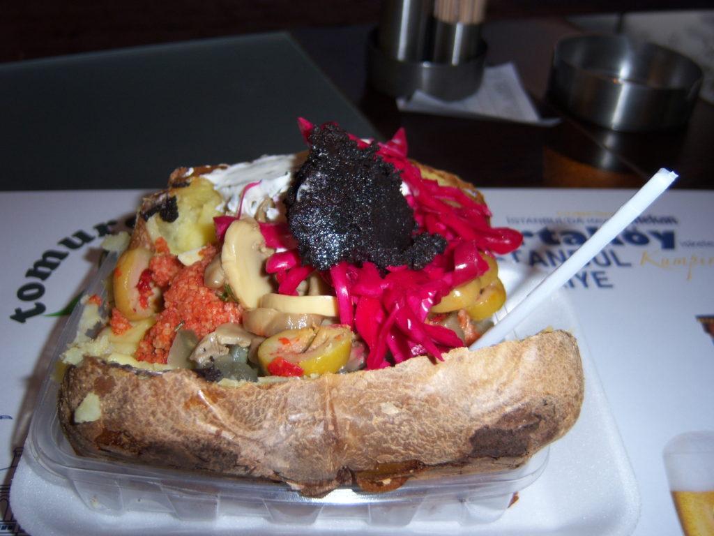 Turkish stuffed potato.