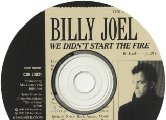 We Didn't Start the Fire promo CD