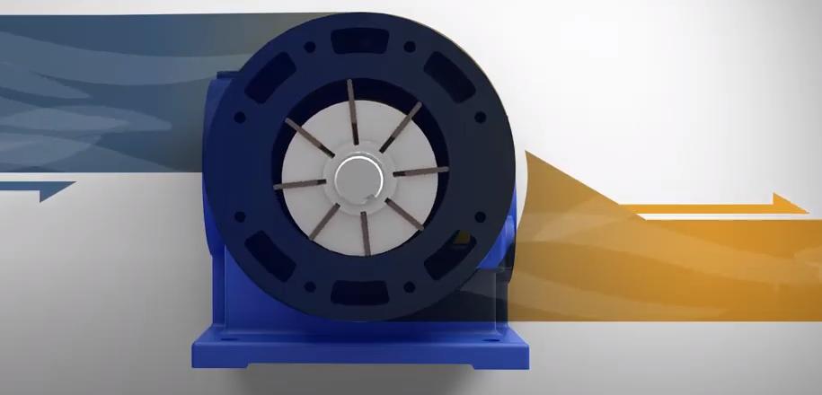 graphic of air flow through a compressor
