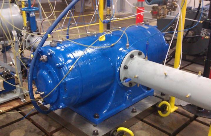 rotary equipment inside a factory