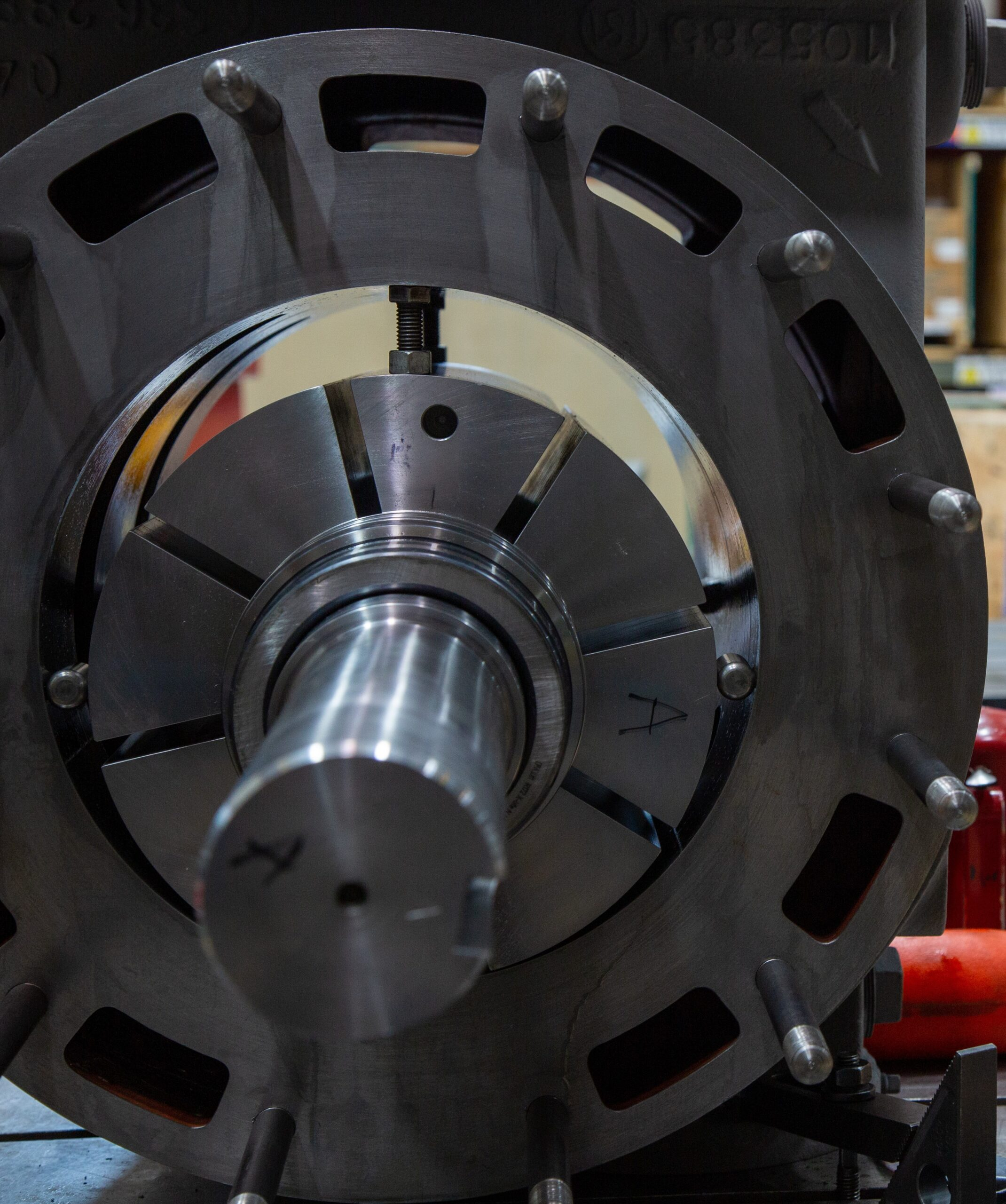 rotary vane close up
