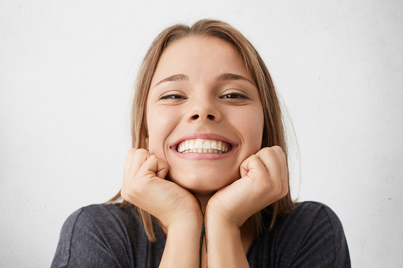 Smiling Girl with white teeth