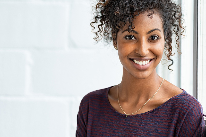 Woman Smiling with White Teeth