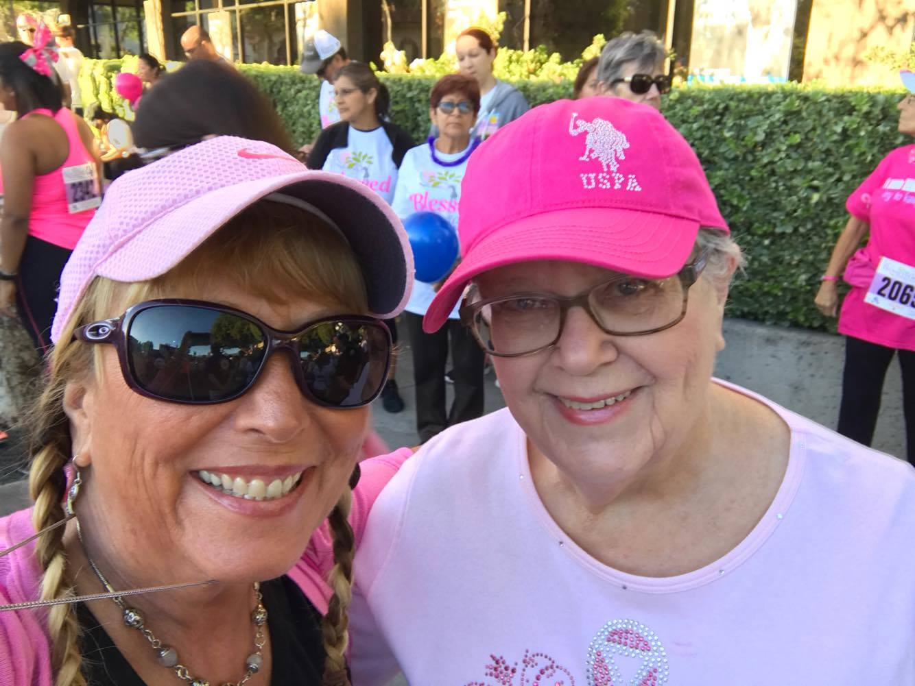 My mother in law and cousin, at the Believe Walk 2016.
