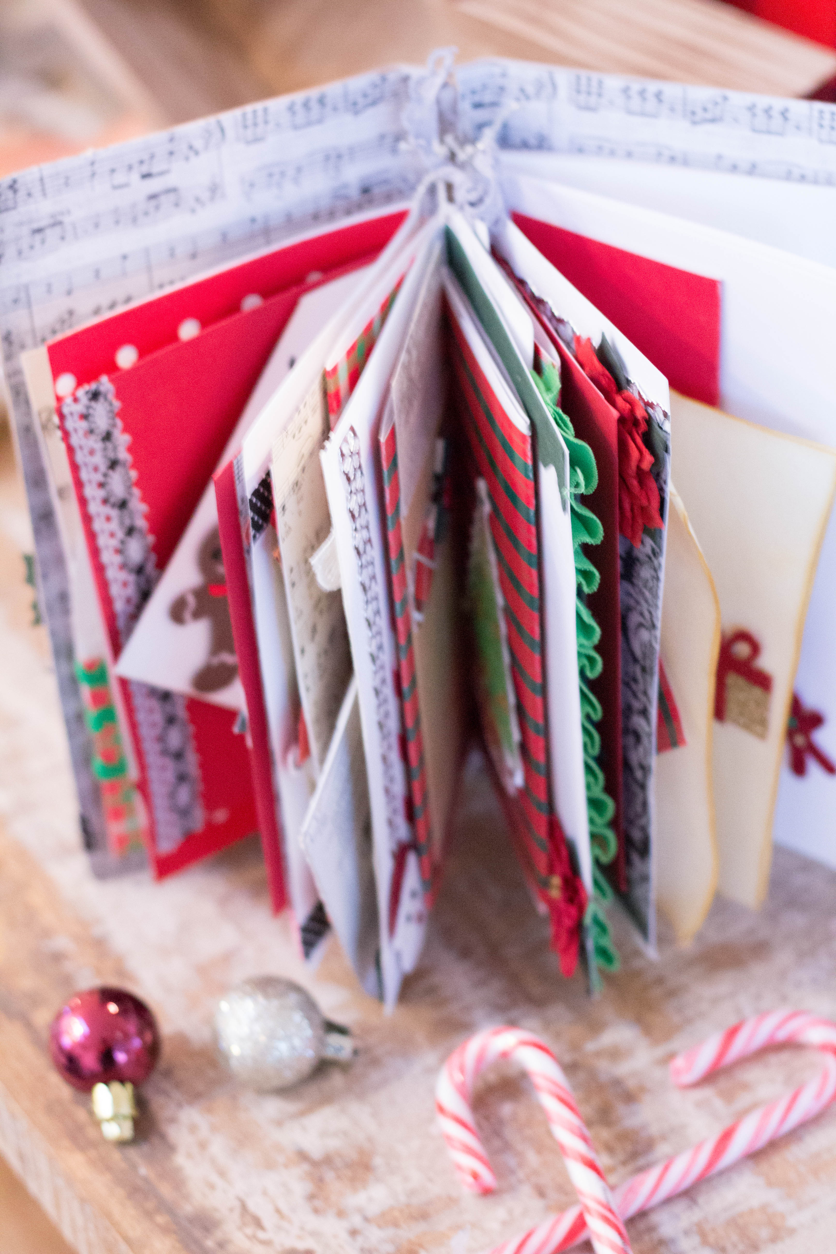 pages of a junk journal for christmas