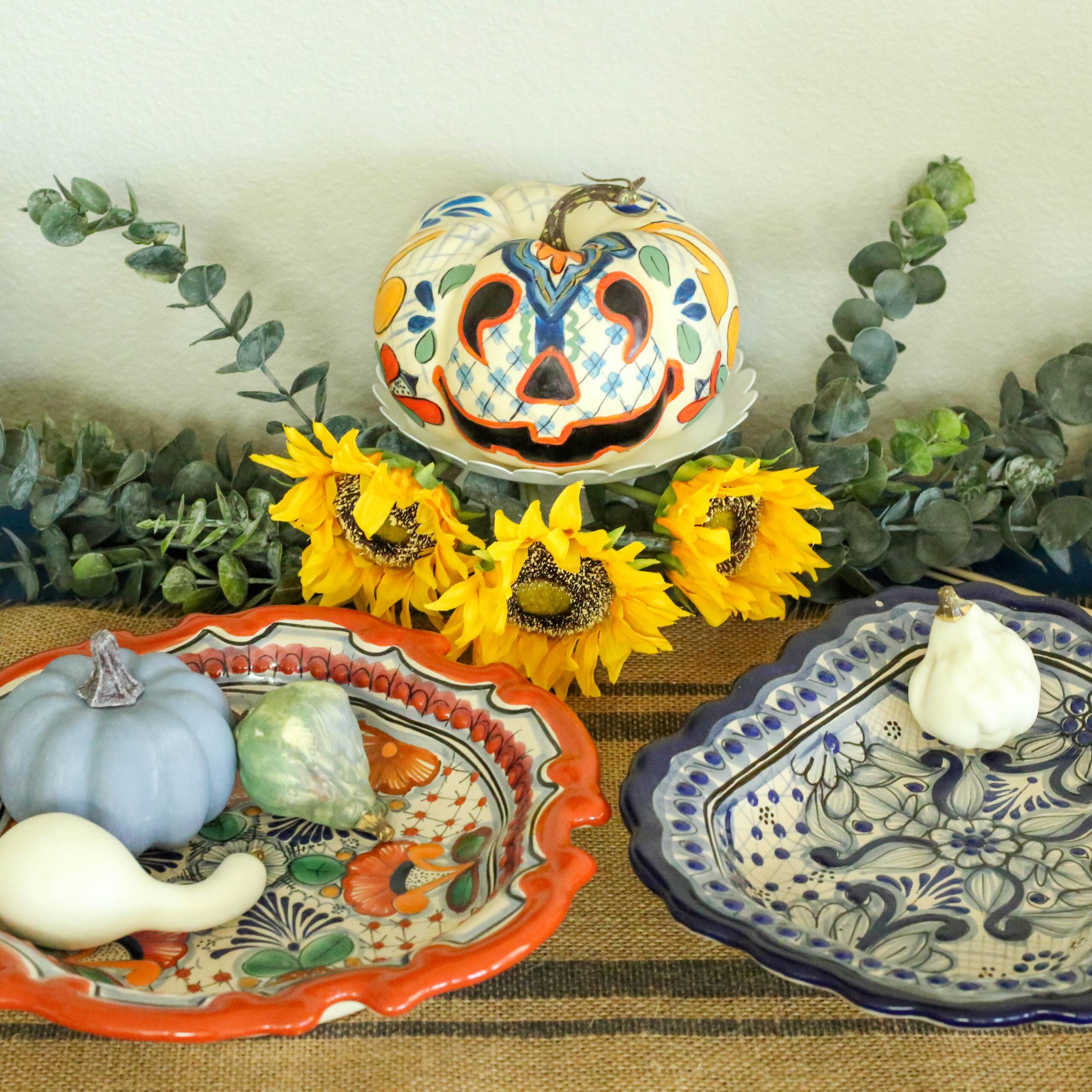 talavera painted pottery