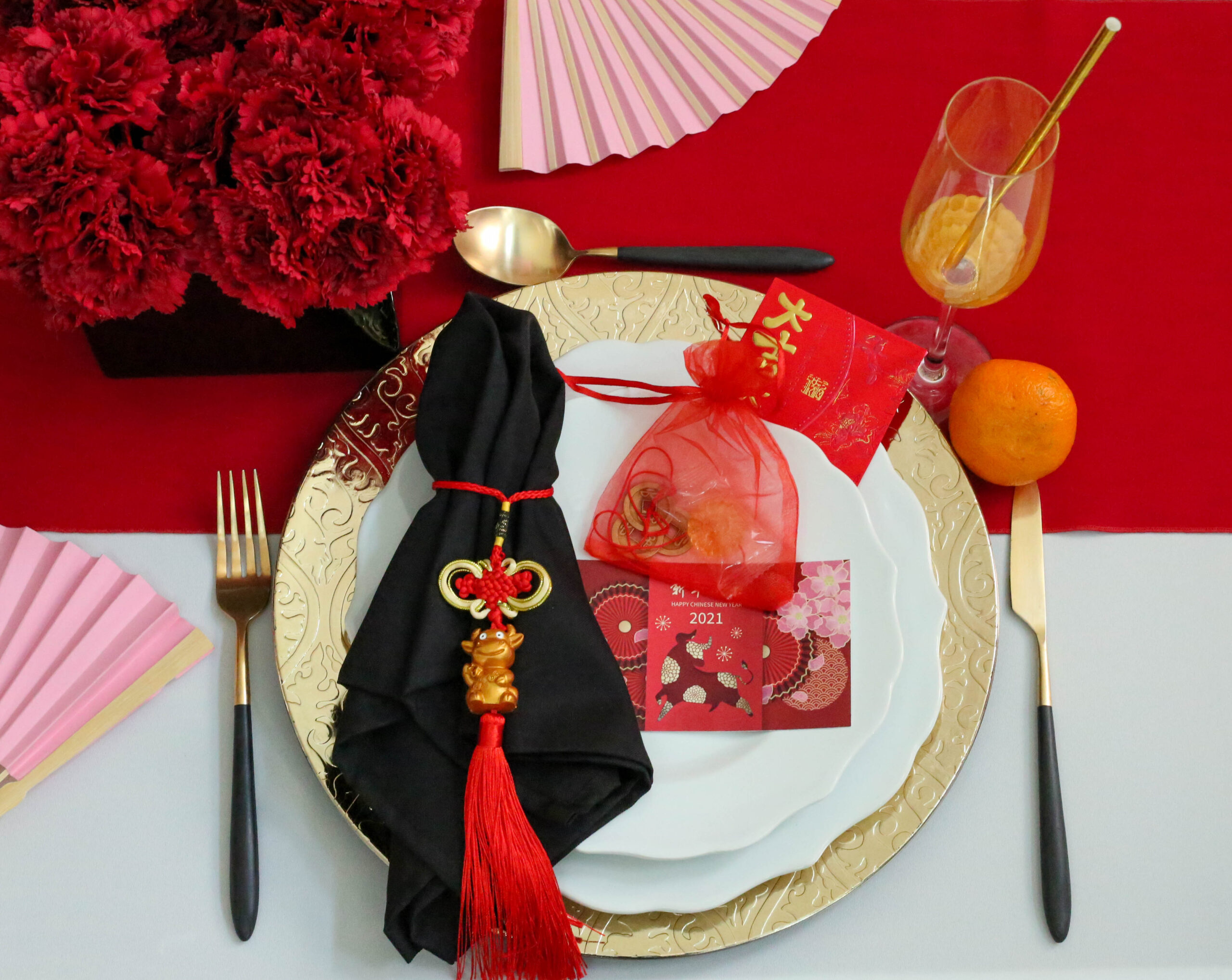place setting chinese new year