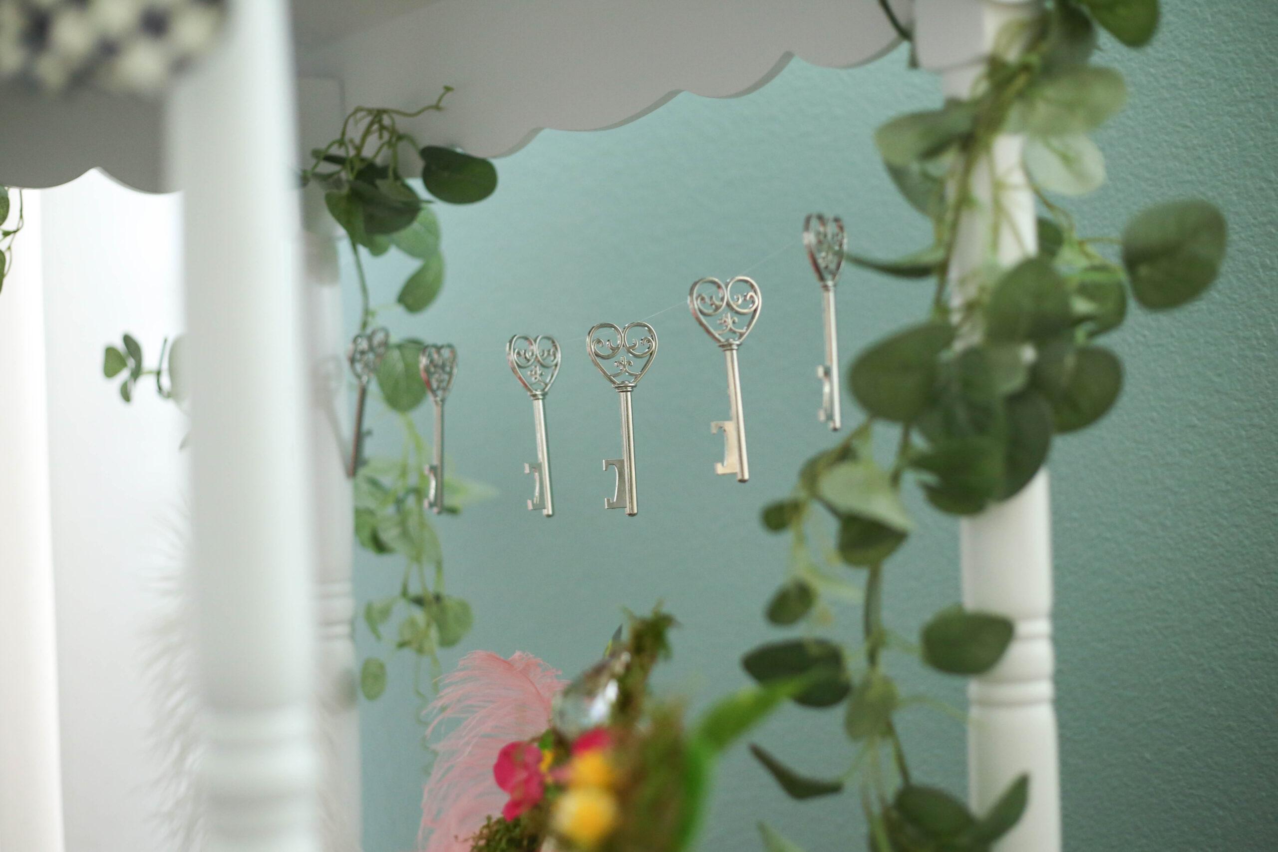 eucalyptus garland and key garland