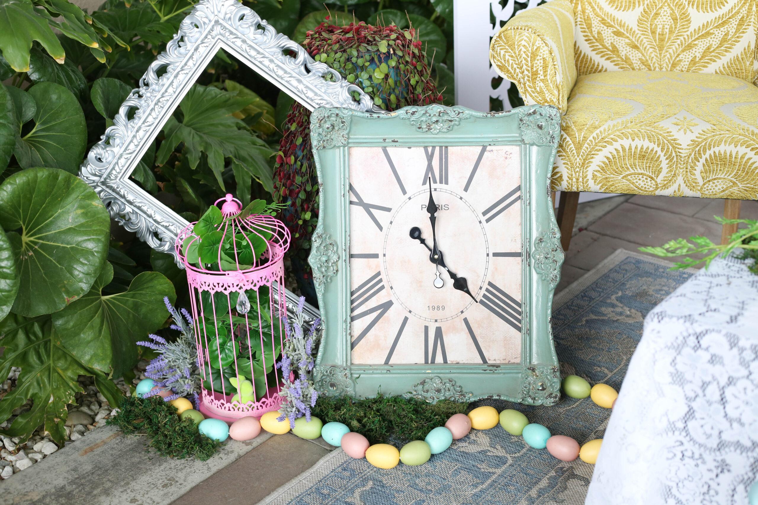 ornate frames and clocks