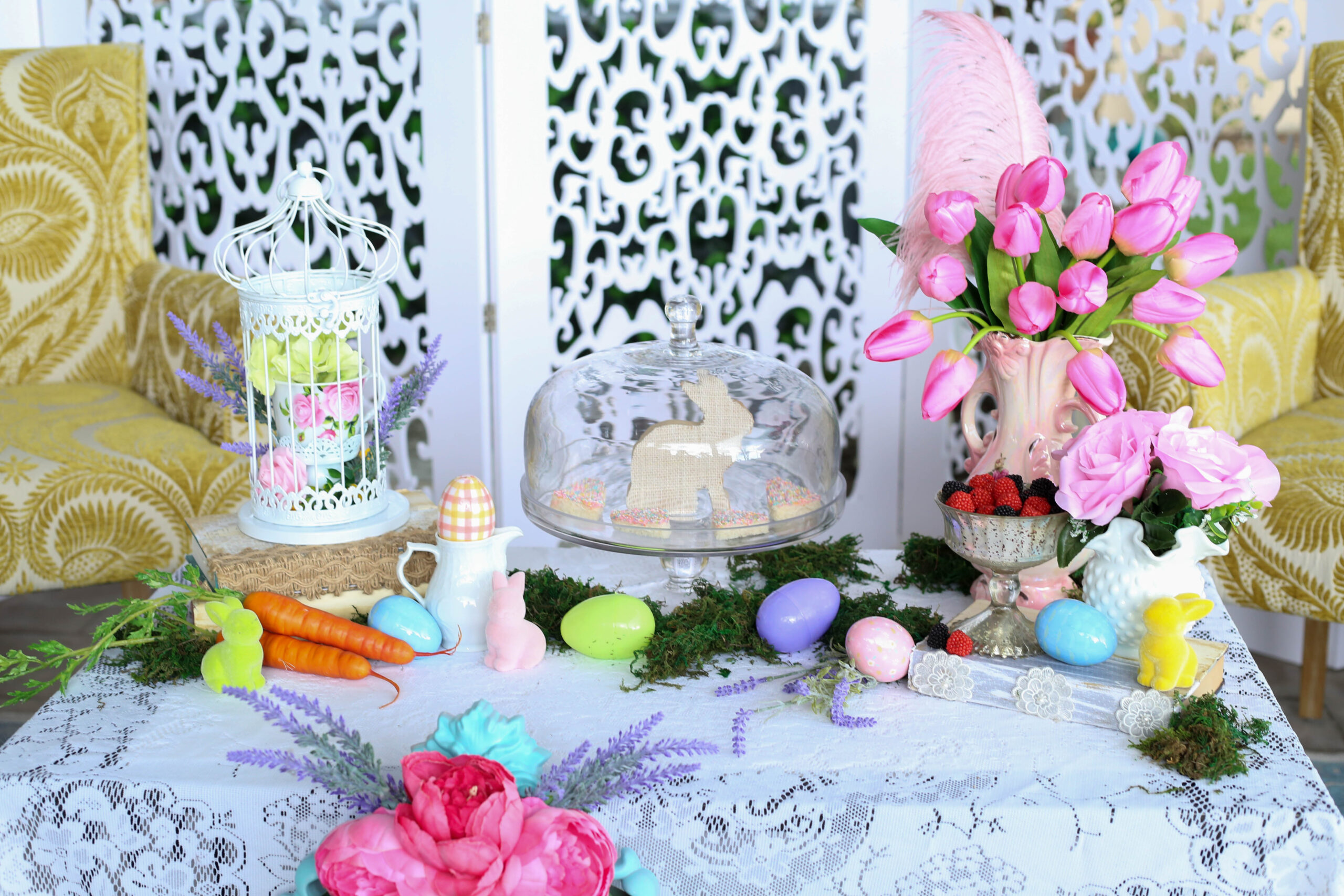 easter table of treats