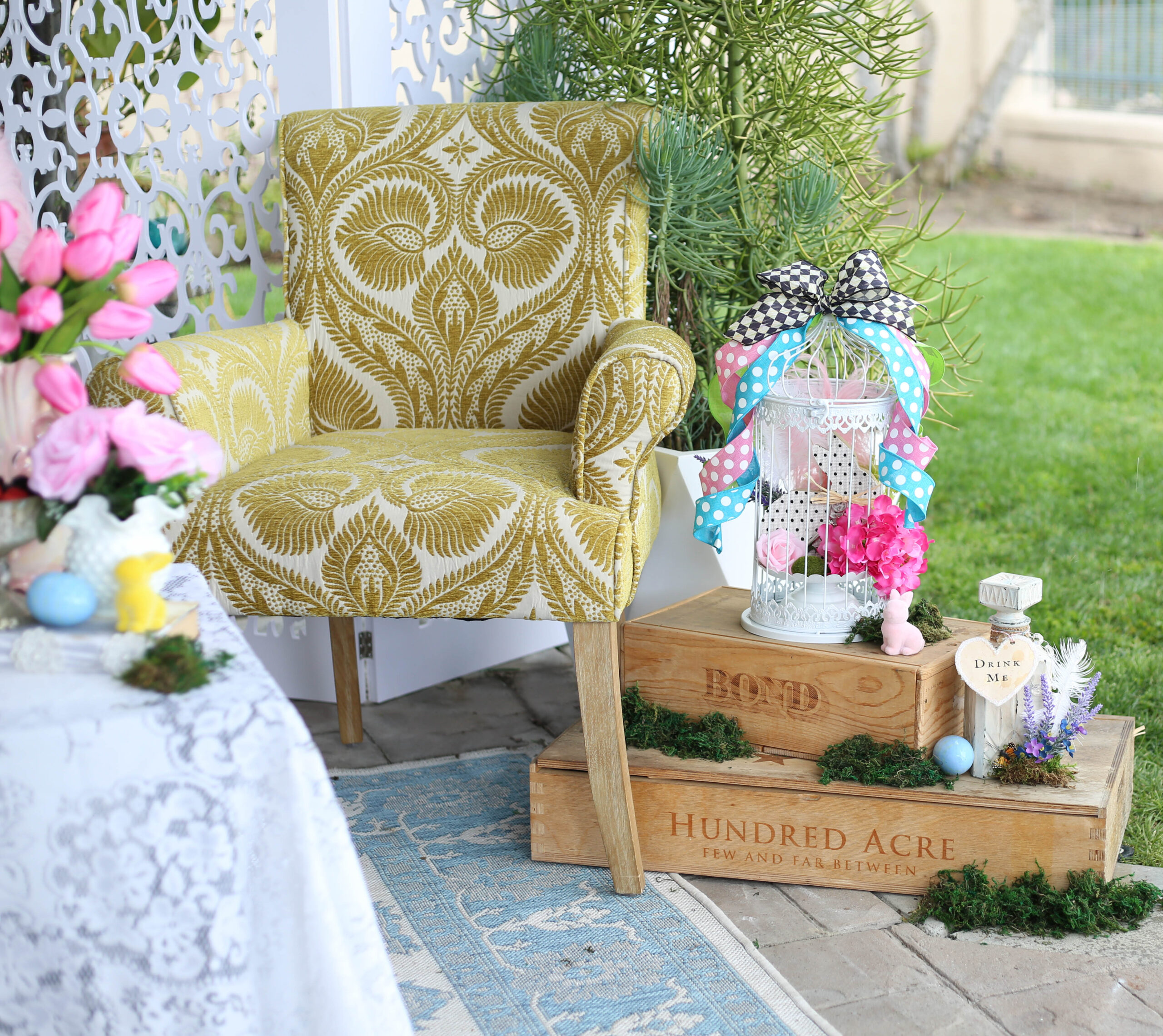 Easter party outdoor decor