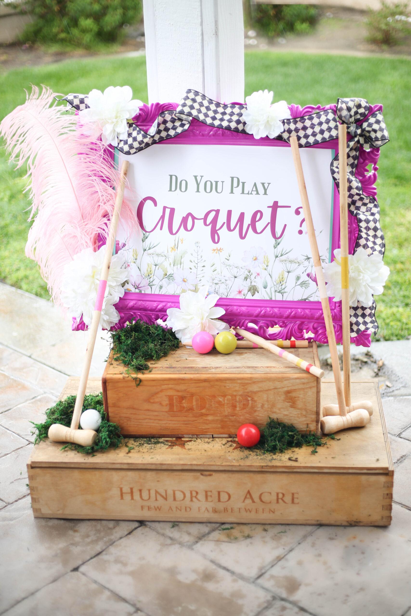 croquet for kids easter in wonderland