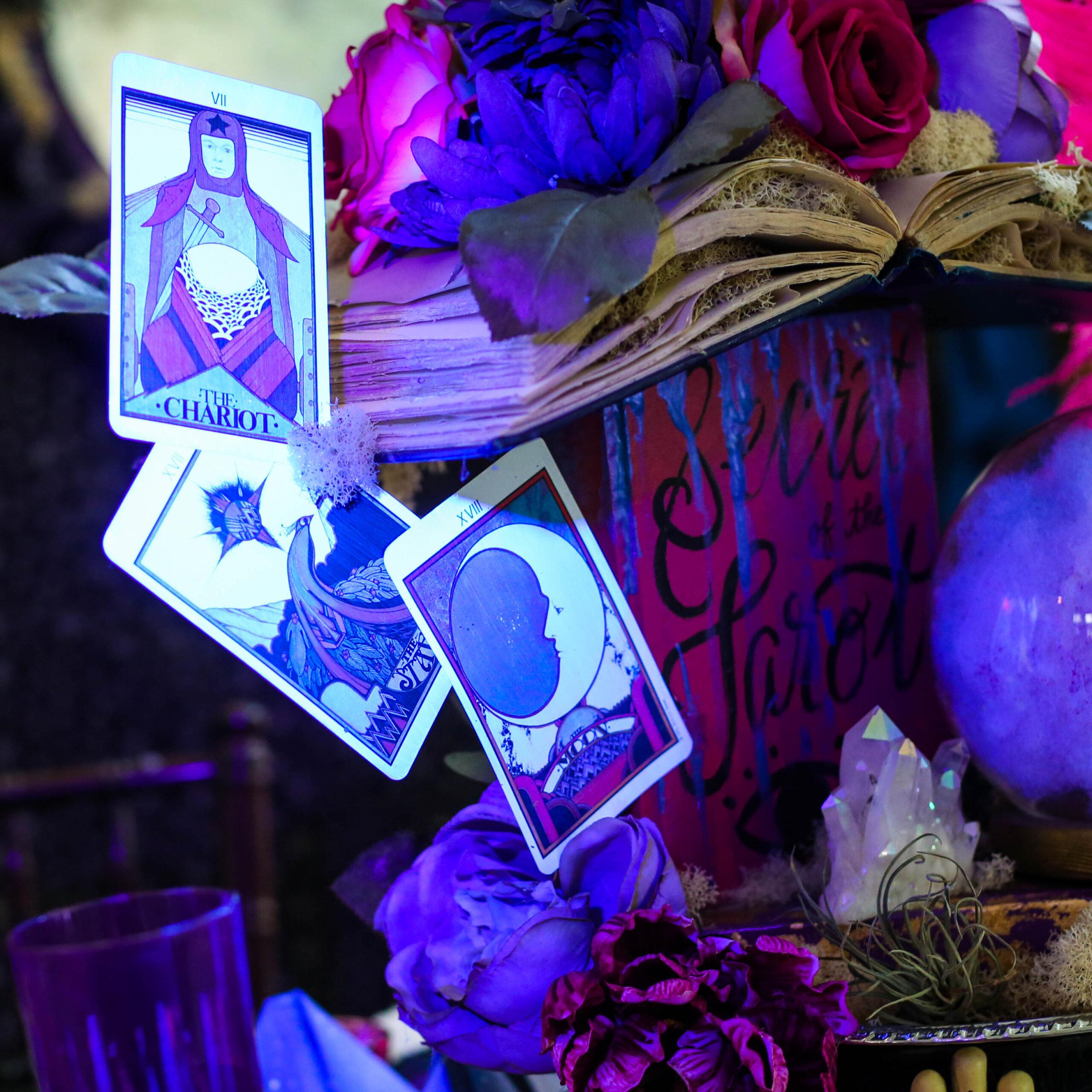 glow in the dark tarot cards using black light mod podge