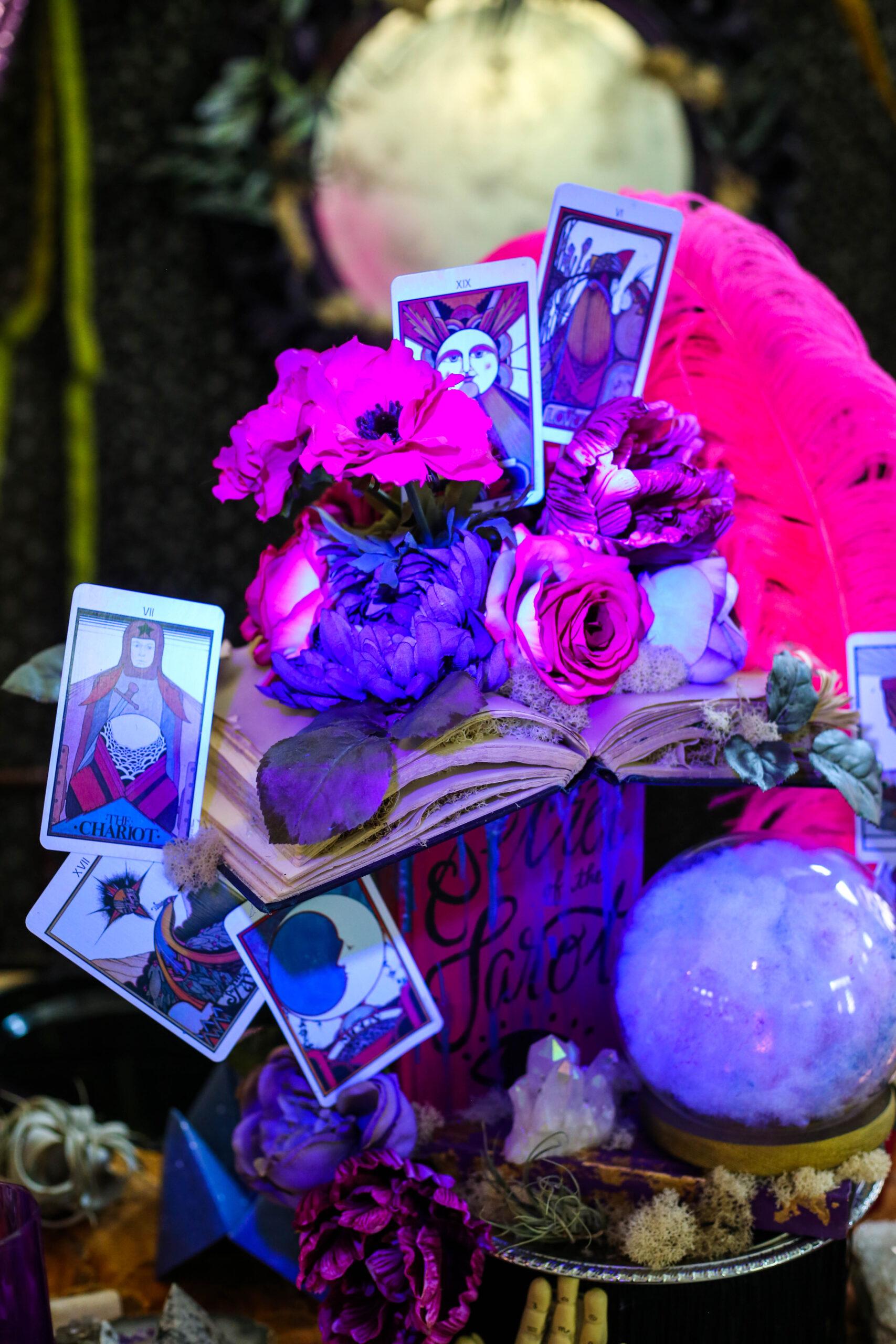 mod podge black light effects on diy fortune teller party decorations