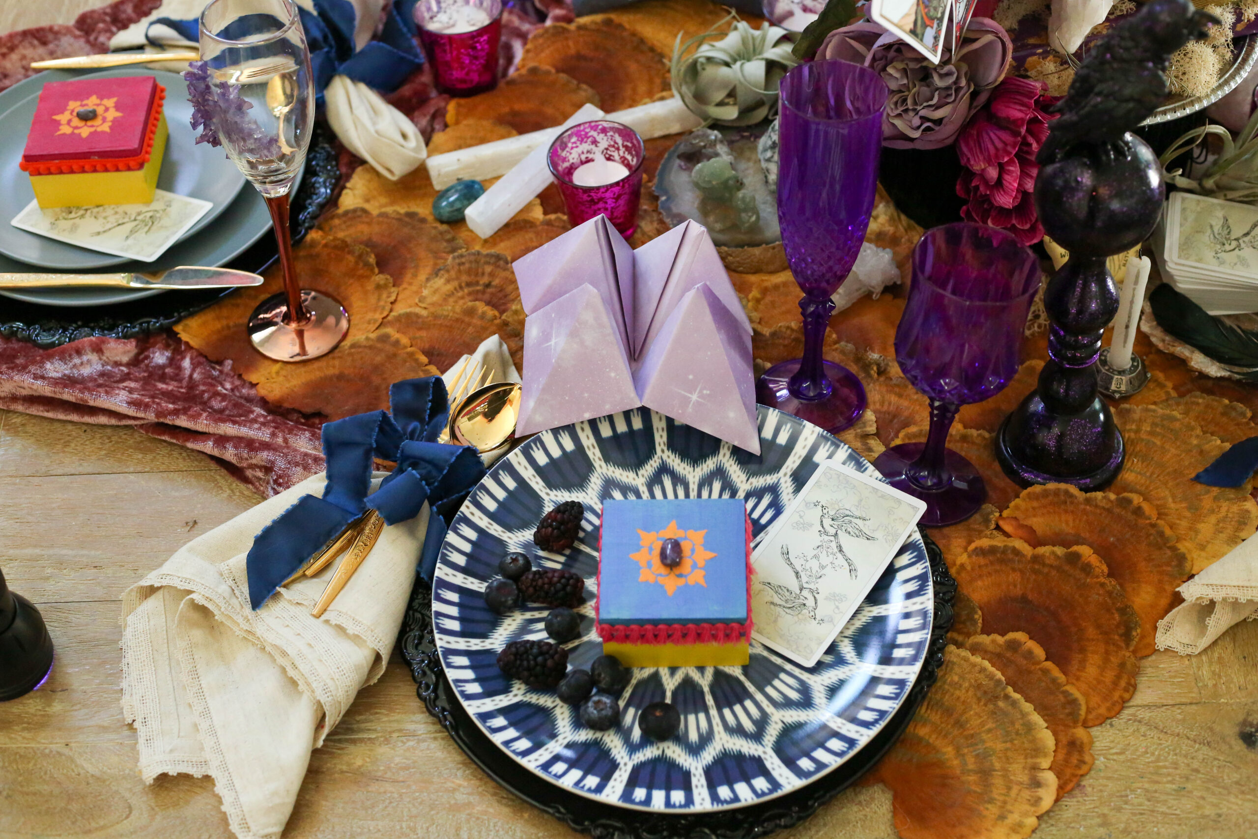 fortune teller party place setting
