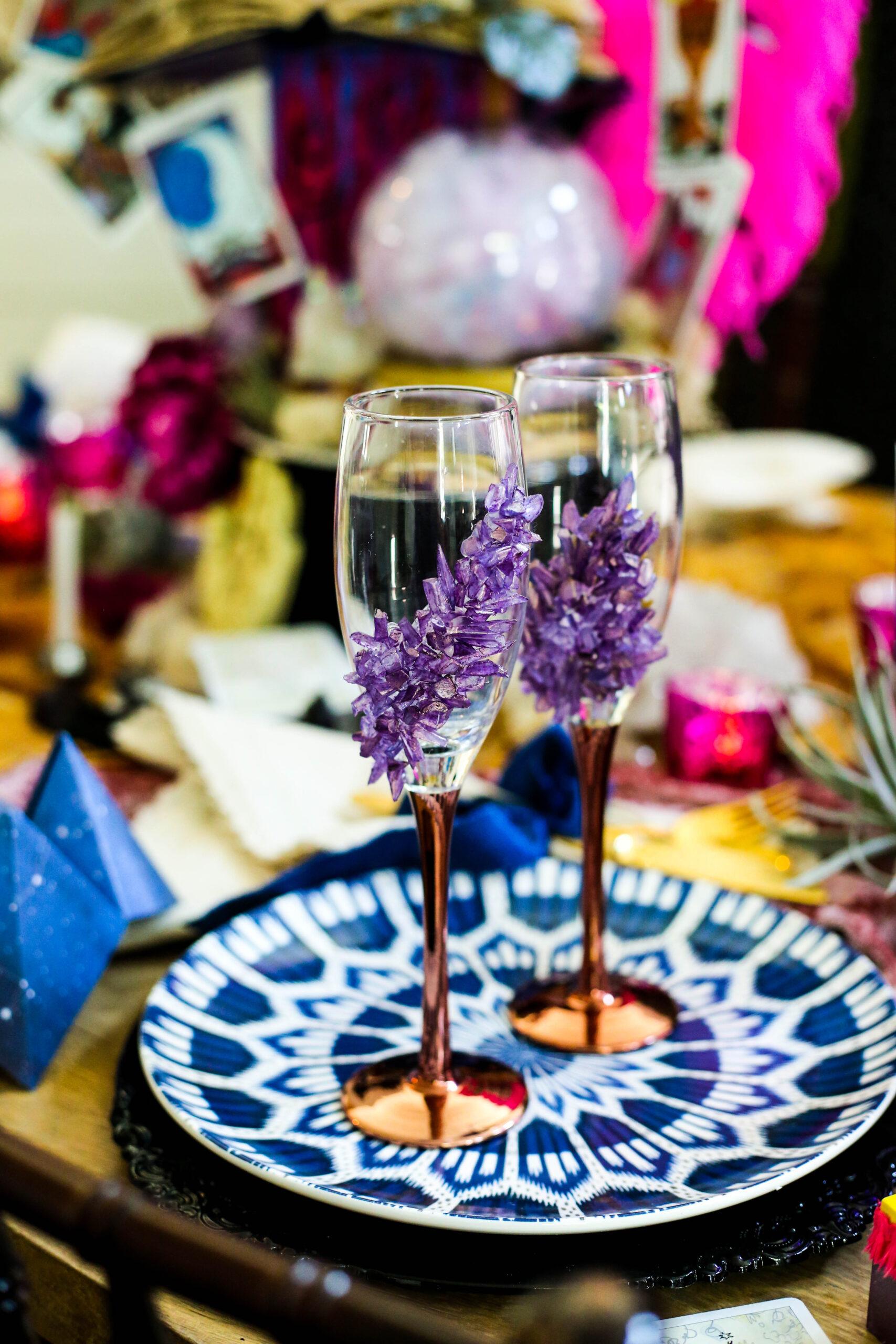 geode champagne glass