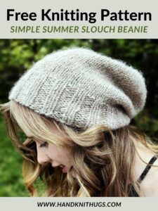 link to simple summer slouch beanie