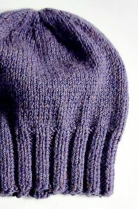 simple bulky slouch beanie flat view