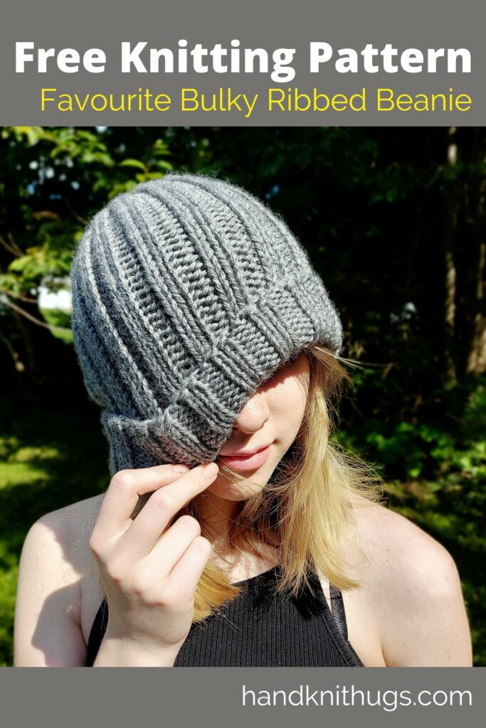 free knitting pattern | favourite bulky ribbed beanie by handknit hugs