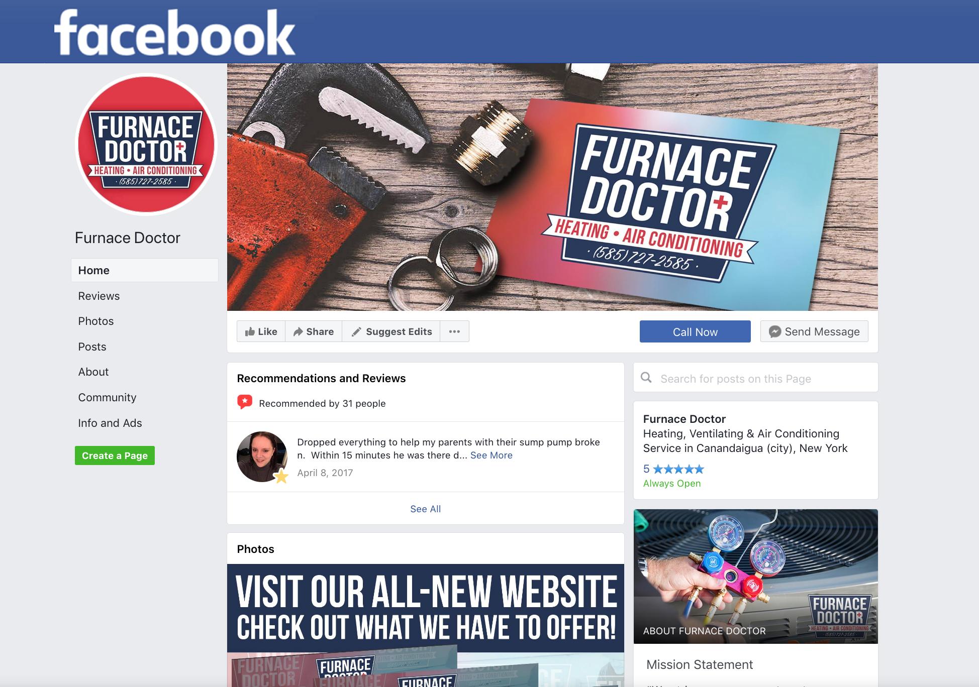 Furnace Doctor Facebook
