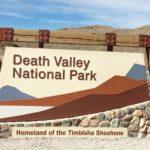 Death Valley National Park signage