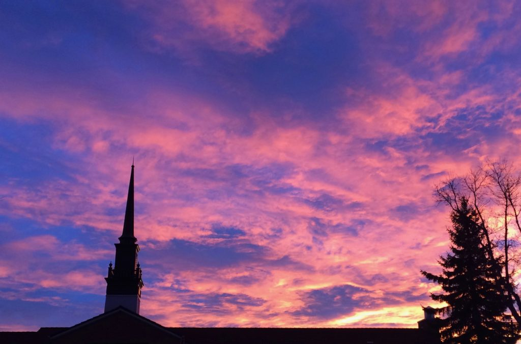 Claresholm Sky Nov 24 nearly 8 AM