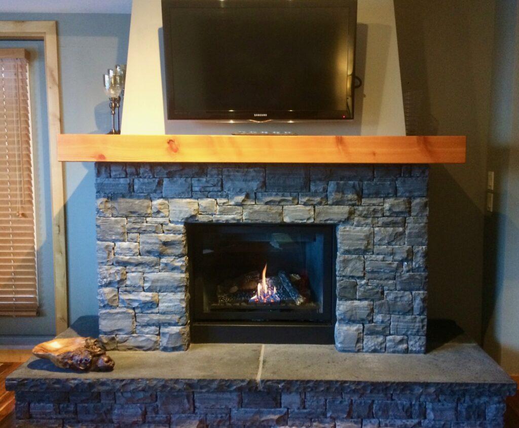 Condo fireplace