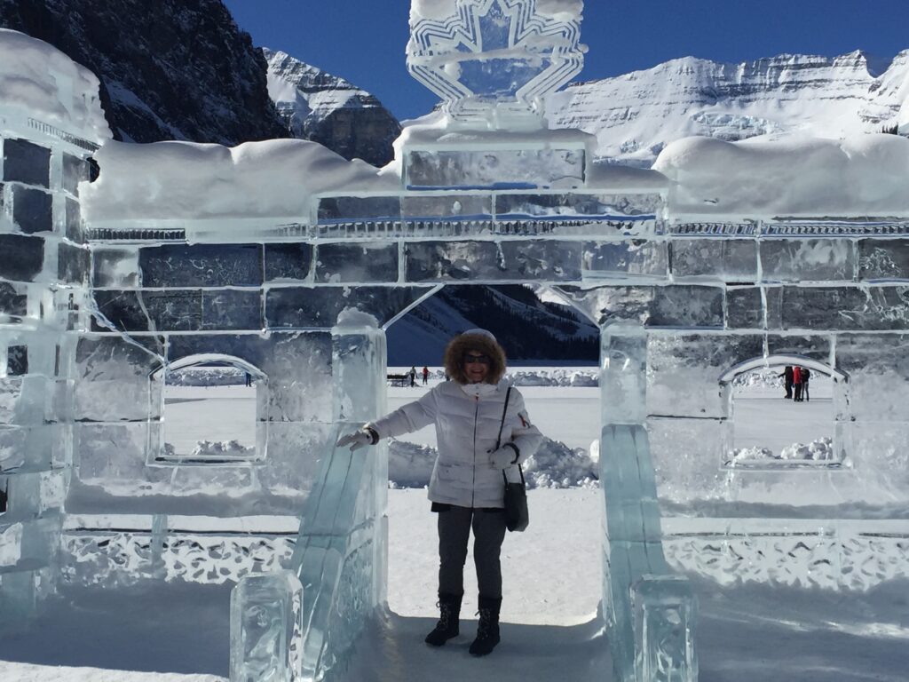 Ice castle at Lake Louise