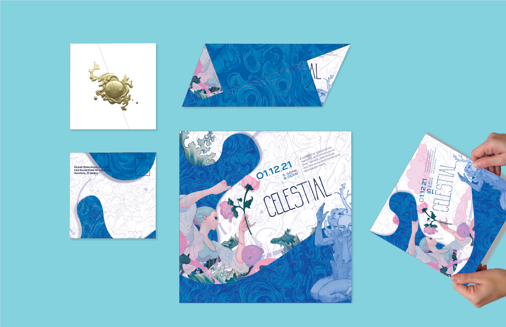 This is an Save the Date for the proposed Exhibition for the artist James Jean.