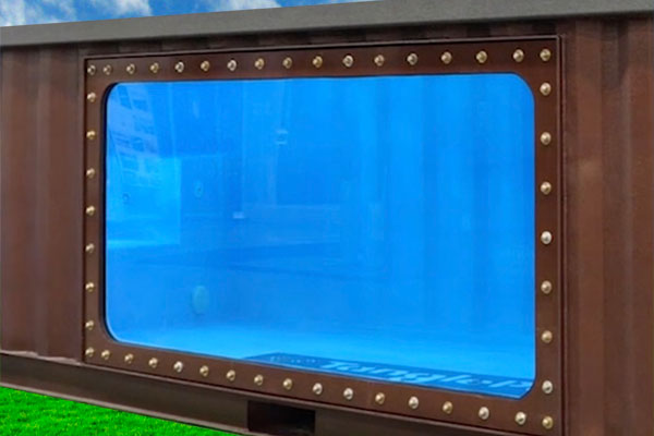 Shipping Container Pool with view port window options