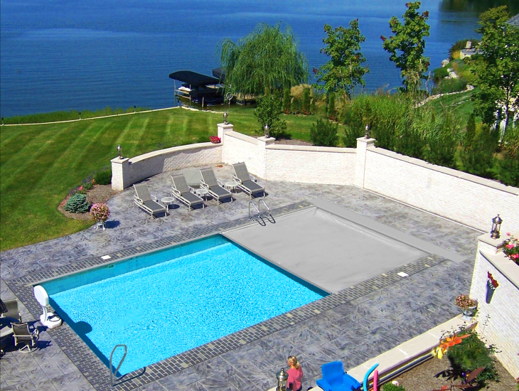 Shipping Container Pool cover options