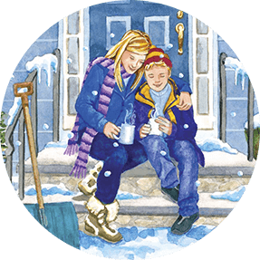 feel good story with Snow Scene Porch Right