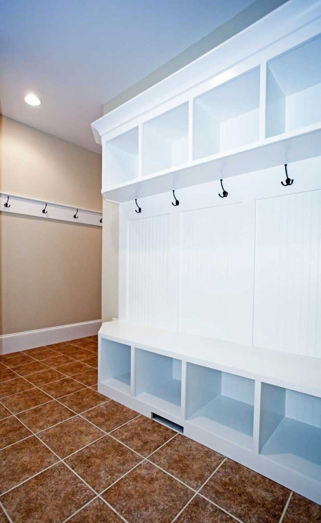 Mudroom remodel in Falls Church & Northern Virginia; built-in shelves