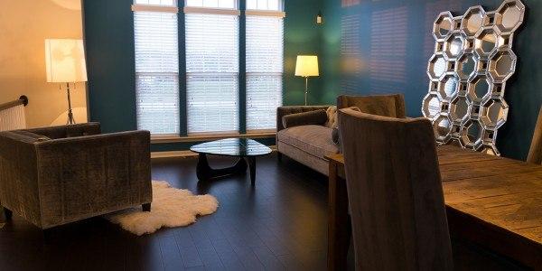 living room remodeling in Northern VA, MD, DC; loft; dark hardwoods