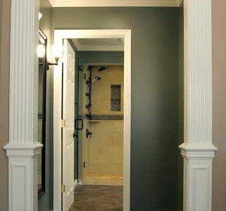 Bathroom remodeling in Northern VA, MD, DC, granite countertops, black cabinets, large tile shower, clawfoot tub, double vanity