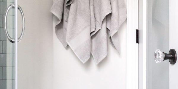 Black & White Bathroom Renovation Bathroom Addition Herndon Virginia, geometric floor tile